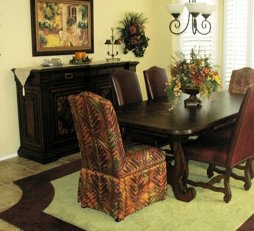 parsons chairs with skirt airport massage chair skirted dining room inspiration | home interiors