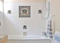Elegant white shower tile design ideas   Home Interiors