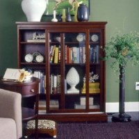 Sliding glass door bookcase for living room | Home Interiors