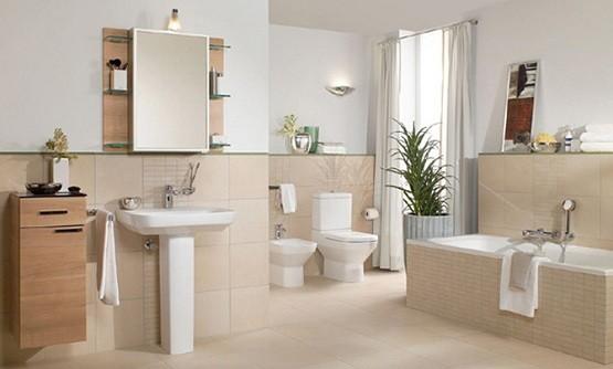 elegant ceramic tile bathroom design  Home Interiors
