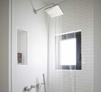 simple white shower tile design ideas | Home Interiors
