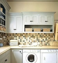 Wall cabinets with storage for laundry room | Home Interiors