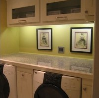 Wall color track laundry room lighting | Home Interiors