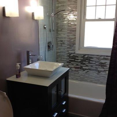 Metal Mosaics Tile For Bathroom Backsplash  Home Interiors
