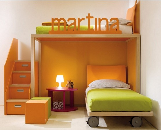 bedroom furniture with stair storage for kids | home interiors