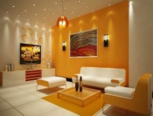 led lighting living lights displaying rooms decor decoration interior designs wall idea theme livingroom lounge orange using colours decorated decorating