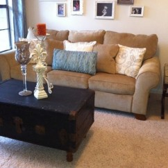Small Living Room Sofa Color Mart Davenport Decorating Your Using Blue And Brown ...