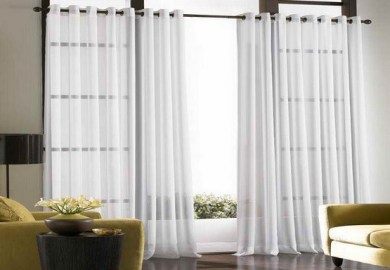 Lace Curtains Living Room