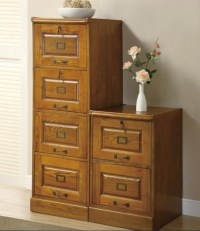 2 and 4 drawer oak wooden filing cabinets | Home Interiors