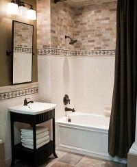 Small bathroom paint ideas with brown and white