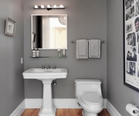 Small bathroom paint ideas with grey | Home Interiors