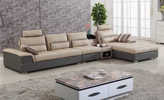 Chic Sense with Leather Living Room Furniture Sets