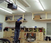 Diy garage ceiling shelves plans with lumber | Home Interiors