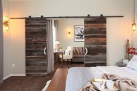 Interior double sliding barn doors with modern door ...