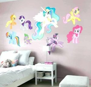 pony decor bedroom wall sticker colorful charming