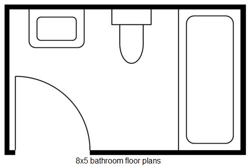 8x5 Bathroom Floor Plans And Remodeling Home Interiors