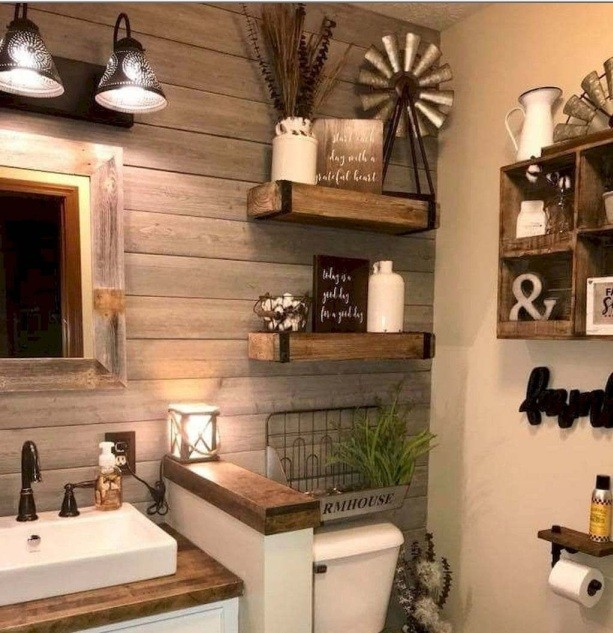Farmhouse Bathroom Wall Decor Ideas That Extremely Impressive Home Interiors