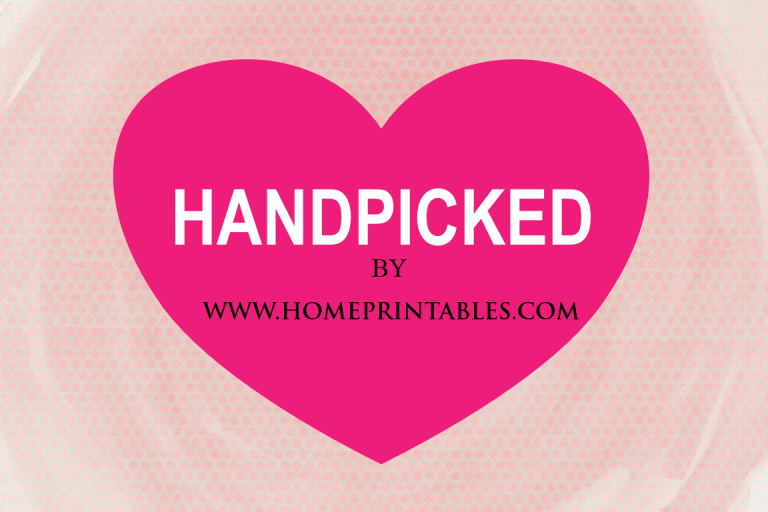 HANDPICKED by www.HomePrintables.com