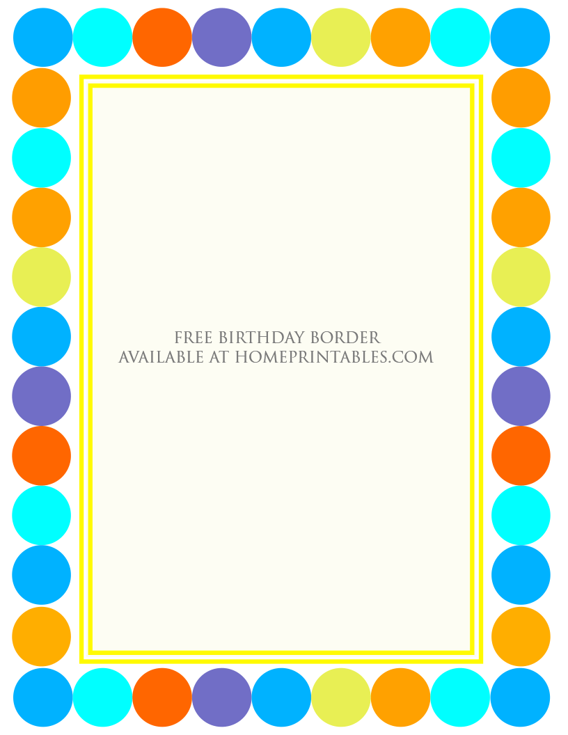 fun designs free birthday borders for invitations home