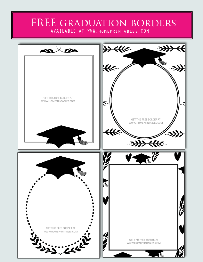 15 Free Graduation Borders {With 5 NEW Designs!}