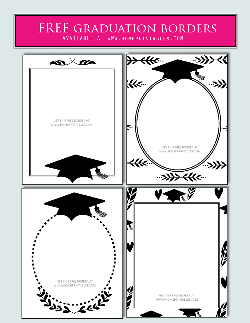 15 free graduation borders  with 5 new designs