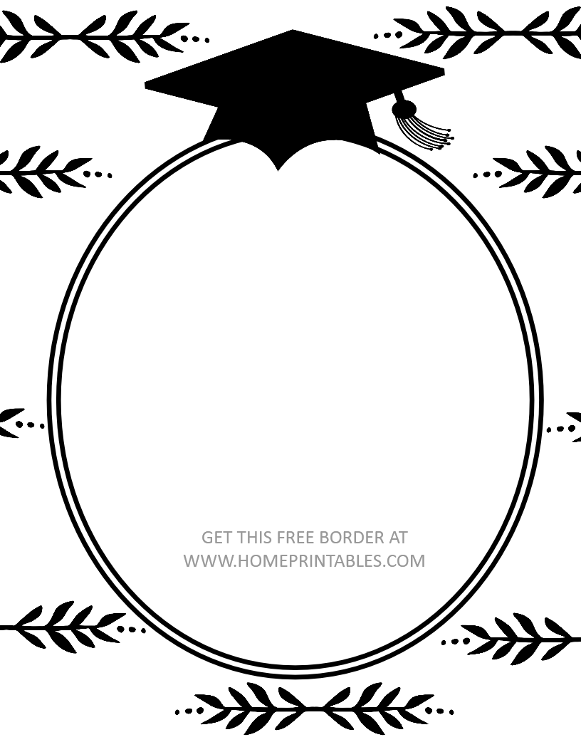 15 Free Graduation Borders {With 5 NEW Designs!} - Home Printables