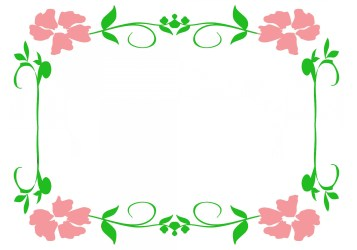 flower flowers border borders pink clipart frames frame clip pretty designs unique templates boreder leaves clipground clipartqueen cool hope going