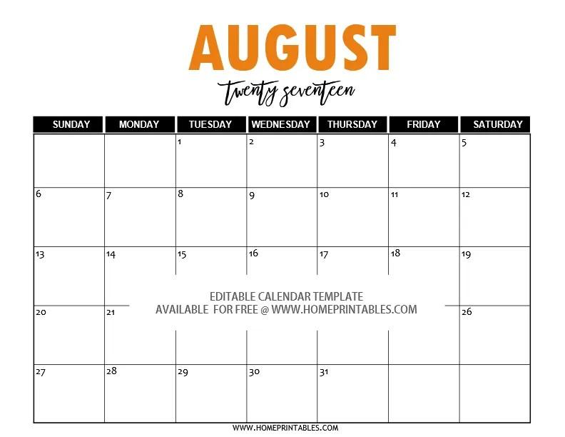 October 2017 Calendar Printable | Templates - Social …