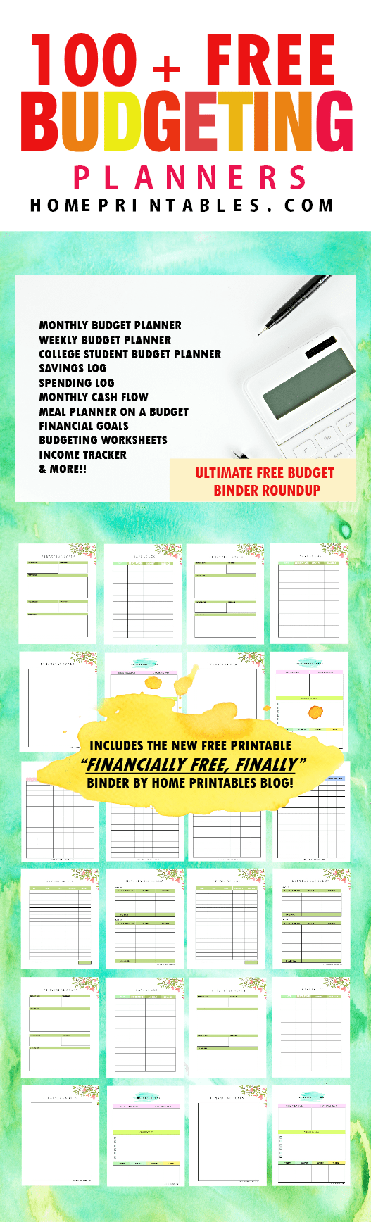 100  free budget templates for financial success