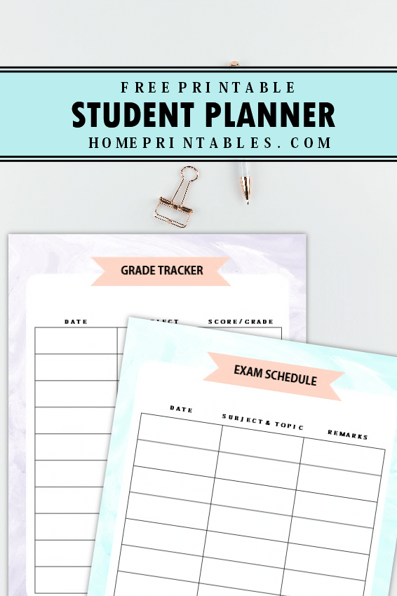 the amazing student planner free printable to use today