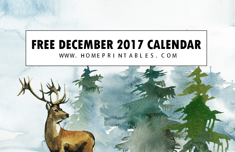 Free Calendar December 2017: 8 Christmas Themed!