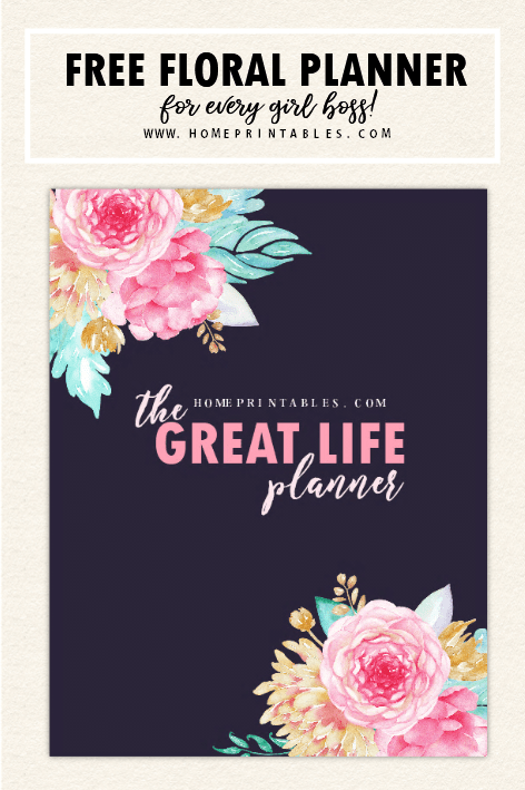 Printable Planner in Florals: 25 FREE Beautiful Pages ...