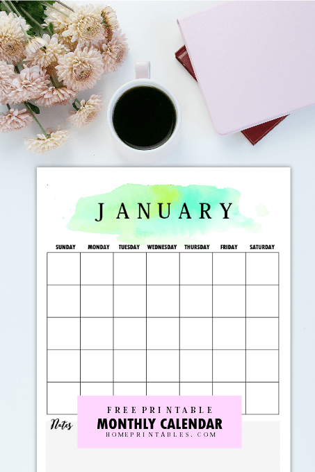 free monthly planner 2018 with calendars home printables