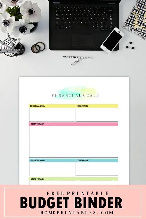 budget binder free printable