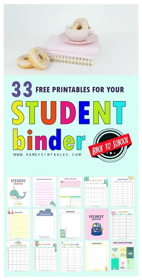 free student binder