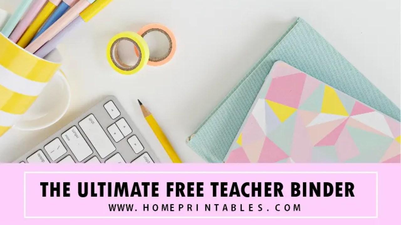 Free Teacher Binder Printables: 30+ Class Planners! - Home ...