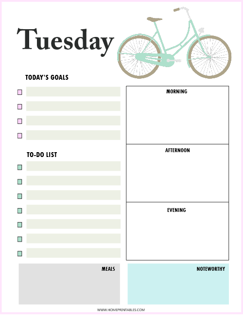 free printable daily planner  beautiful and practical
