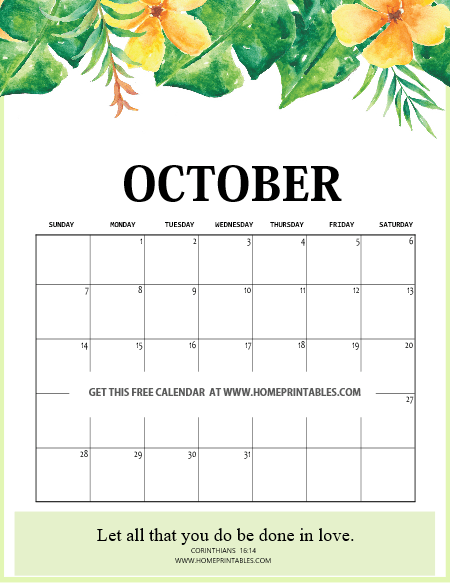 image relating to October Calendar Printable named Totally free Printable Oct 2018 Calendar: 10 Lovable Options!