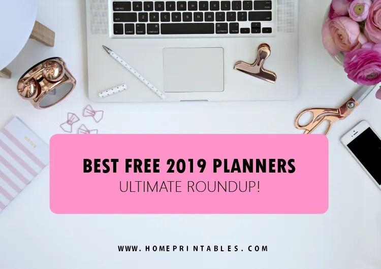 free printable planner 2019