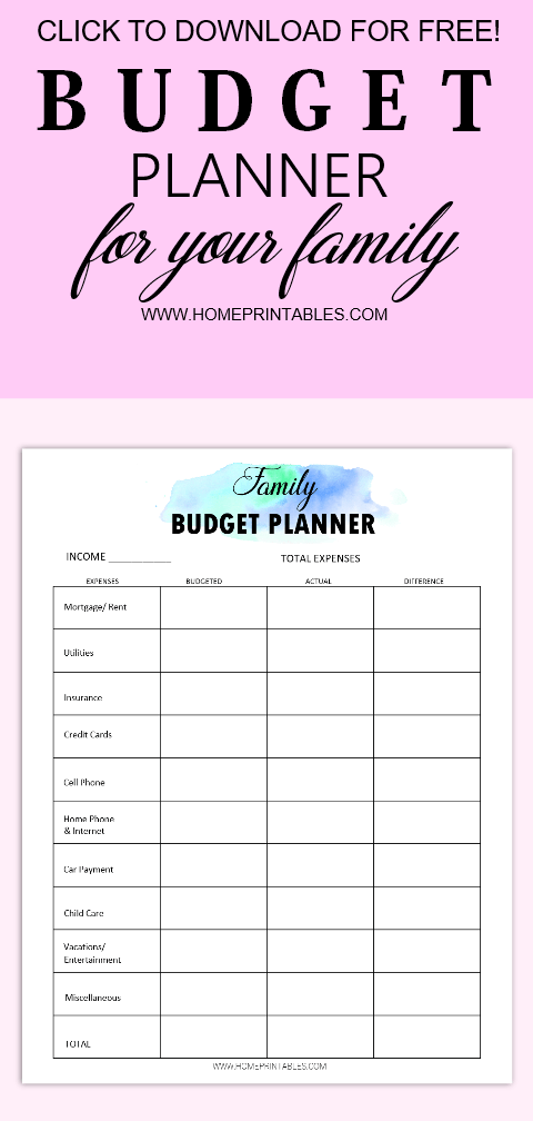 free monthly budget template printables  enjoy 15 brilliant worksheets