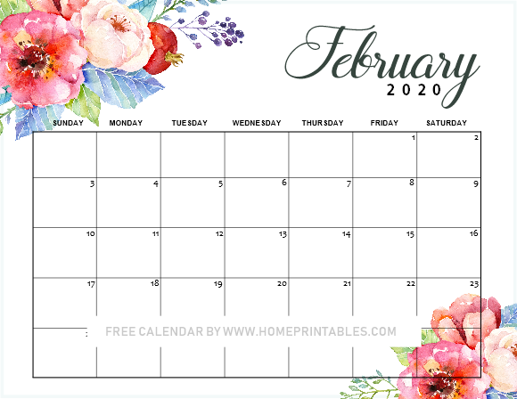 free-printable-February-2019-calendar-03 - Home Printables