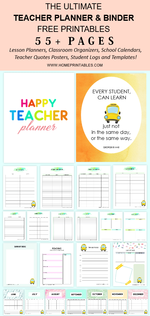 photo regarding Printable Teacher Planner named Totally free Trainer Planner Printable: 55+ Web pages towards Retain Your self Well prepared!