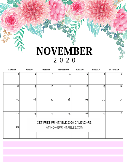 Snag Our Free Calendar 2020 Printable PDF in Glorious Florals!