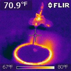 Faucet temperature change