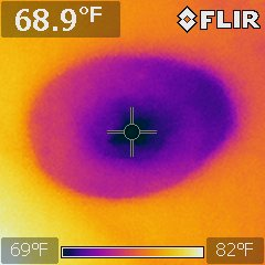 Active leak at ceiling was confirmed with a moisture meter