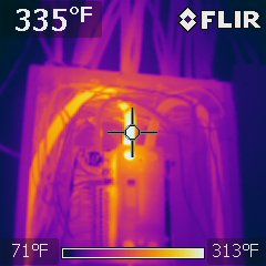 Electrical breaker panel, loose connection observed