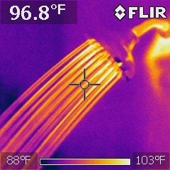 Shower head, interesting photo