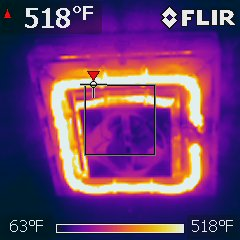 Ceiling heaters at bathrooms are also h
