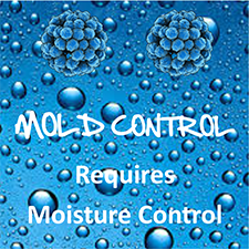 Mold Control Requires Control of Moisture