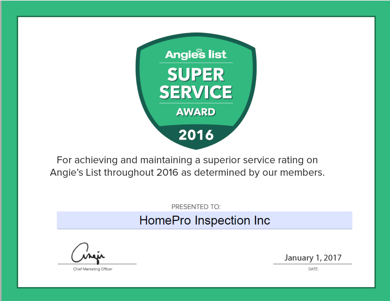 Award Winning Home Inspection Chattanooga TN